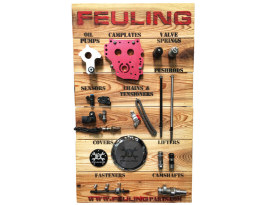 Feuling Product Display. Stand Alone Wood Panel