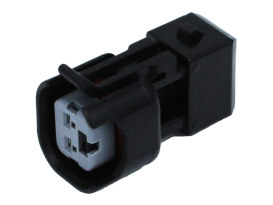 Fuel injector adapter, allows use of EV6 style injectors on engines equipped with EV1 plug connectors.