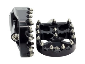V2 MX Footpegs with HD Male Mount - Black.