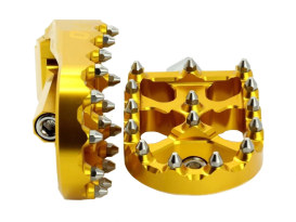 V2 MX Footpegs with HD Male Mount - Gold.