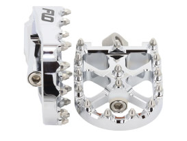 V3 MX Footpegs with HD Male Mount - Chrome.