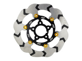 11.5in. Front or Rear Floating Disc Rotor with Gold Carrier. Fits most Big Twin & Sportster 2000-2014.