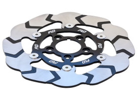 11.5in. Front or Rear Floating Disc Rotor with Silver Carrier. Fits most Big Twin & Sportster 2000-2014.