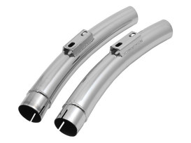 Replacement Quiet Mufflers for Sharp Curve Radius Exhaust with No Cross-Over Chamber. Fits Softail Breakout 2013-2017 & Rocker 2008-2011.