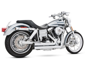 Independence Shorty Exhaust - Chrome with Black End Caps. Fits Dyna 2006-2017.
