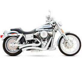 Sharp Curve Radius Exhaust with Chrome Finish. Fits Dyna 2006-2017.