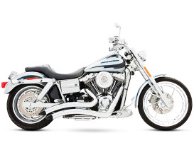 Sharp Curve Radius Exhaust - Chrome. Fits Dyna 1991-2005.