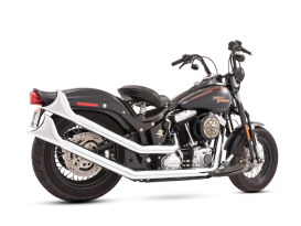 Upsweeps Exhaust - Chrome with Chrome Sharktail End Caps. Fits Softail 1986-2017.