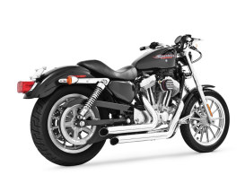 Declaration Turnouts Exhaust - Chrome. Fits Sportster 2004up.