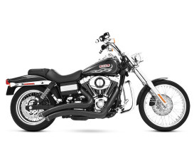 Sharp Curve Radius Exhaust - Black with Black End Caps. Fits Dyna 2006-2017.