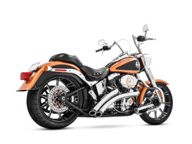 Radical Radius Exhaust with Chrome Finish & Black End Caps. Fits Softail 1986-2017.