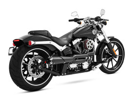American Outlaw 2-into-1 Exhaust with Black Finish & Black End Cap. Fits Softail Breakout 2013-2017 & Rocker 2008-2011 Models.