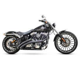 Radical Radius Exhaust with Black Finish & Black End Caps. Fits Softail Breakout 2013-2017 & Rocker 2008-2011 Models.