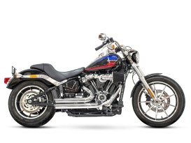 Independence Shorty Exhaust - Chrome with Black End Caps. Fits Softail 2018up.