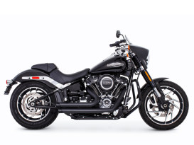 Amendment Exhaust with Black Finish. Fits Softail 2018up.