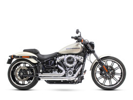 Declaration Turnouts Exhaust - Chrome. Fits Softail 2018up.