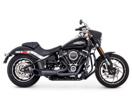 2-into-1 Turnout Exhaust with Black Finish & Pitch Black End Cap. Fits M8 Softail 2018up.