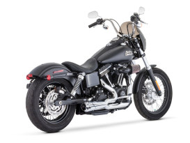 American Outlaw Shorty 2-into-1 Exhaust - Chrome with Chrome End Cap. Fits Dyna 2006-2017.