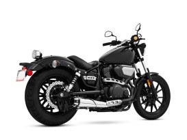 Outlaw Slip-On Muffler - Chrome with Black End Caps. Fits Yamaha Bolt 2013up.