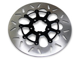 11.8in. Front Standard Round Floating Disc Rotor - Black. Fits Dyna 2006-2017, Softail 2015up, Sportster 2014up & Some Touring 2008up.