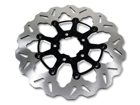 11.8in. Front Wave Floating Disc Rotor - Black. Fits Dyna 2006-2017, Softail 2015up, Sportster 2014up & Some Touring 2008up.