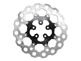 11.8in. Rear Cubiq Floating Disc Rotor with Black Carrier. Fits Touring 2008up.