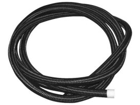 3/8in. Braided Steel Oil Line - Black.
