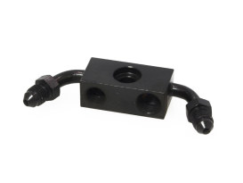 ABS Front Brake Line Adapter - Black. Fits Dyna 2012-2017.