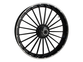23in. x 3.75in. Ranger/Turbine Replica Wheel - Black Anodize, Polished Rim & Spoke Edge, Chrome Hub Kit. Fits Breakout 2013up.