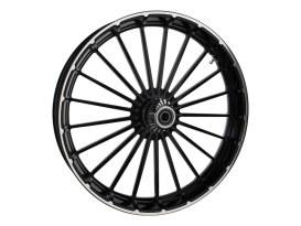 26in. x 3.75in. Ranger/Turbine Replica Wheel - Black Anodize, Polished Rim & Spoke Edge, Chrome Hub Kit. Fits Breakout 2013up.