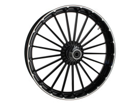 26in. x 3.75in. Ranger/Turbine Replica Wheel - Black Anodize, Polished Rim Edge, Chrome Hub Kit. Fits Breakout 2013up.