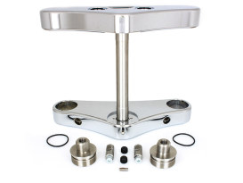 5 Degree Raked Wide Glide Triple Tree Kit - Chrome. Fits Breakout 2013-2017 with 23in. Wheel Conversion.