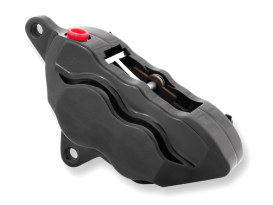 Left Hand Front 4 Piston Caliper - Black. Fits many Big Twin & Sportster 1984-1999 Models with 11.5in. Disc Rotor.