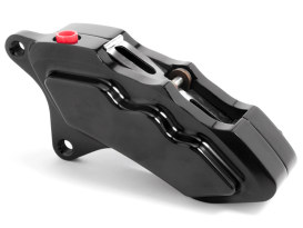 Left Hand Front 6 Piston Caliper - Black. Fits most Big Twin 1984-1999 & Sportster 1984-1999 Models with 11.5in. Disc Rotor.