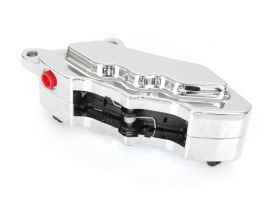 Right Hand Front 6 Piston Caliper with Chrome Finish. Fits Narrow Glide Models 2000-2005 with Spoked Wheels.