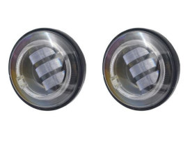 4-1/2in. LED Passing Lamp Inserts with Halo - Black.