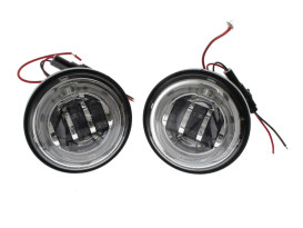 4-1/2in. LED Passing Lamp Inserts with Halo - Chrome.