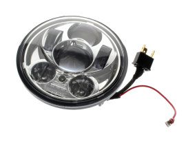 5-3/4in. LED HeadLight Insert with Parker - Chrome. Fits H-D & Indian Scout Models with 5-3/4in. Headlight.