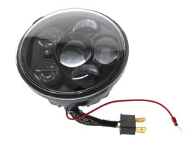 5-3/4in. LED HeadLight Insert with Parker - Black. Fits H-D & Indian Scout Models with 5-3/4in. Headlight.