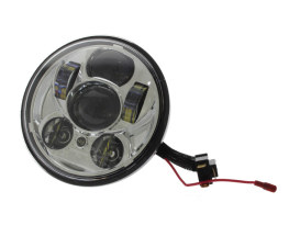 50w 5-3/4in. Headlight with Parker Light - Chrome. Fits most Yamaha.