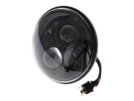 7in. LED HeadLight Insert with Parker - Black. Fts H-D, Indian Chief Classic & Dark Horse Models with 7in. Headlight.