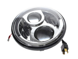 7in. LED Headlight Insert with Halo - Chrome. Fits H-D, Indian Chief Classic & Dark Horse Models with 7in. Headlight.