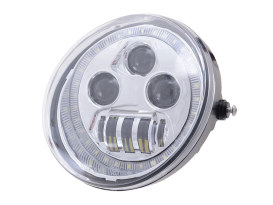 5-3/4in. LED HeadLight Insert with Halo - Chrome. Fits VRSCDX 2012-2017 & VRSCF 2002-2017.