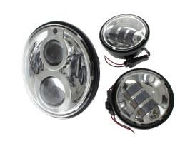 7in. HeadLight & 4.5in. Passing Lamp Bundle - Chrome. Fits H-D with 7in. Headlights & 4.5in. Passing Lamps.