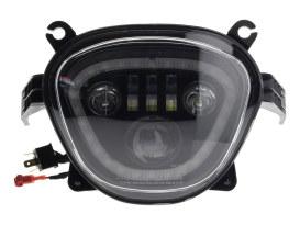 LED Headlight Insert - Black. Fits Suzuki M109R Boulevard 2006-2017, M90 Boulevard 2009-2017, C90 Boulevard 2015, VZ1500 Intruder 2009-2017