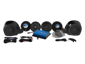 Hogtunes G4, 200 Watt Amp x 6 Speaker Kit. Fits 2014up Touring Ultra Limited Models.