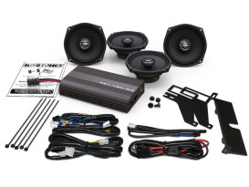 Hogtunes, 400 Watt Amp x 4 Speaker Kit. Fits 1998-2013 Ultra Classic & 2009-2013 Tri Glide Ultra.