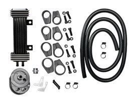 6-Row Vertical Deluxe Oil Cooler Kit. Fits all H-D.