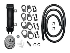 6-Row Vertical Slimline Oil Cooler Kit. Fits all H-D.