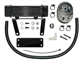 6-Row Lowmount Oil Cooler Kit. Fits Softail 2000-2010.
